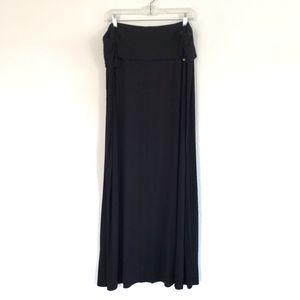 Calvin Klein 3X black Maxi Skirt